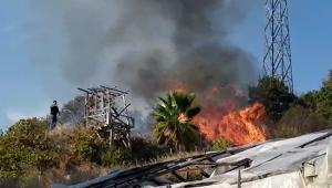 Yangın, evlere sıçramadan söndürüldü