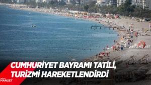 Cumhuriyet Bayramı tatili, Antalya'da turizmi hareketlendirdi