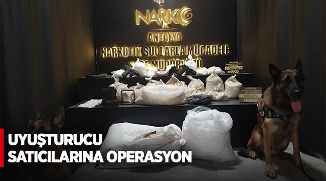 Uyuşturucu satıcılarına operasyon