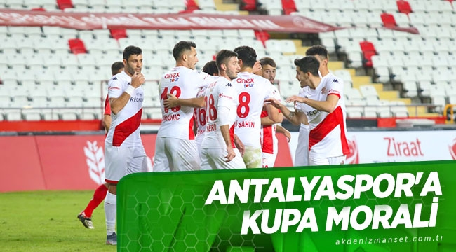 Antalyaspor'a kupa morali