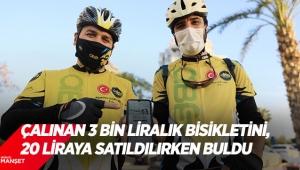 Çalınan 3 bin liralık bisikletini, 20 liraya satıldığı hurdacıda buldu