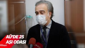 AÜ'de25 aşı odası