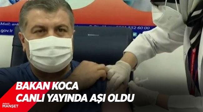 Fahrettin Koca canlı yayında aşı oldu