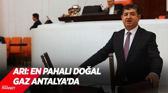 Arı: En pahalı doğal gaz Antalya'da
