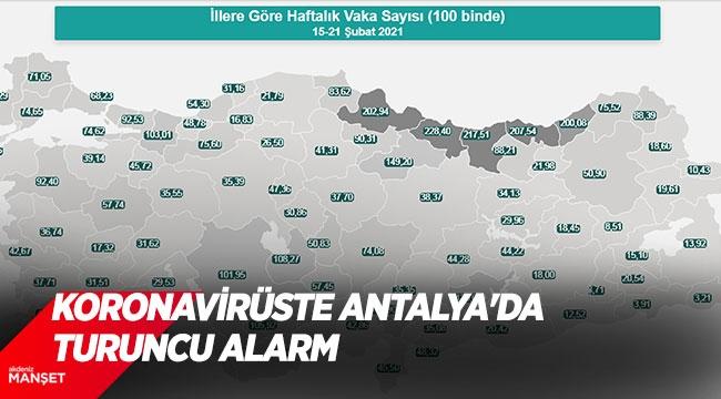 Koronavirüste Antalya'da turuncu alarm
