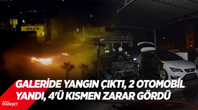 2 otomobil yandı, 4'ü kısmen zarar gördü