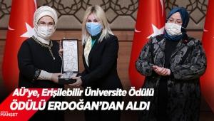 Ödülü Erdoğan'dan aldı