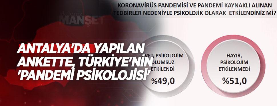 Antalya'da yapılan ankette, Türkiye'nin 'pandemi psikolojisi'