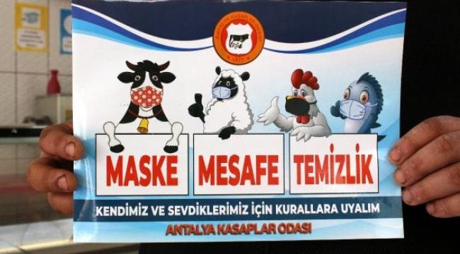 Kasaplardanmaske takan hayvanların yer aldığı sticker