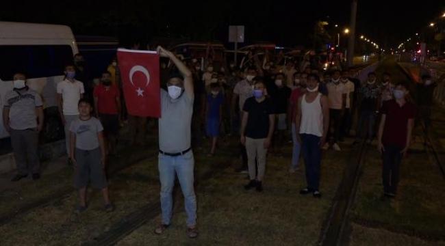 Antalya'da 'Caner Sarmaşık şehit sayılsın' konvoyu