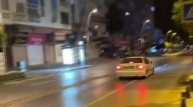 Polis ve alkollü sürücü kovalamacası kamerada
