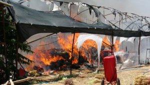 Seradaki yangın güçlükle söndürüldü