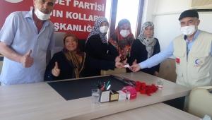 SP'li kadınlardan Filistin'e yardım