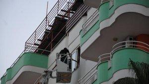 6 katlı apart otelde yangın