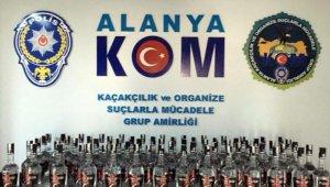 Alanya'da kaçak içki operasyonu