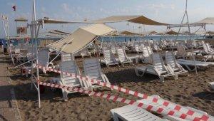 Antalya'da sahili 'hortum' vurdu, 6 turist yaralandı
