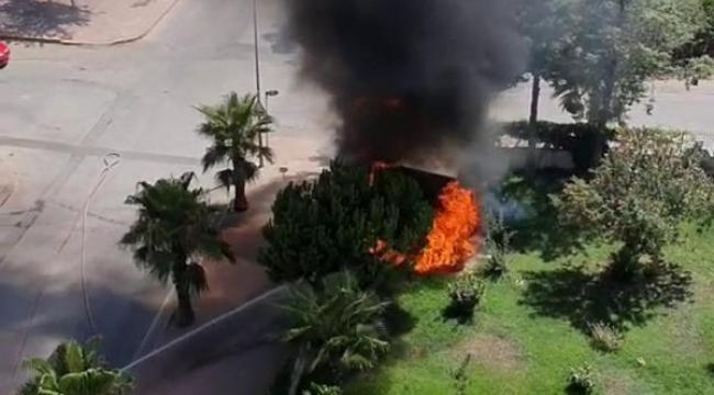 Antalya'da trafo yangını korkuttu