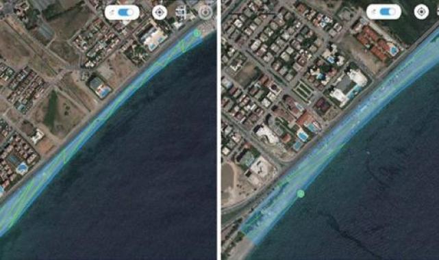 Konyaaltı sahilindeki erozyon 5 metreyi buldu