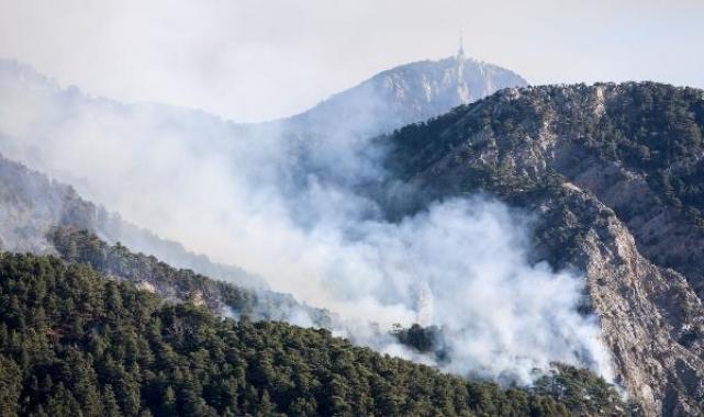 Antalya'daki orman yangını, Göynük Kanyonu'na ilerliyor
