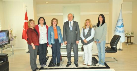 Kadın girişimciler AESOB'u ziyaret etti