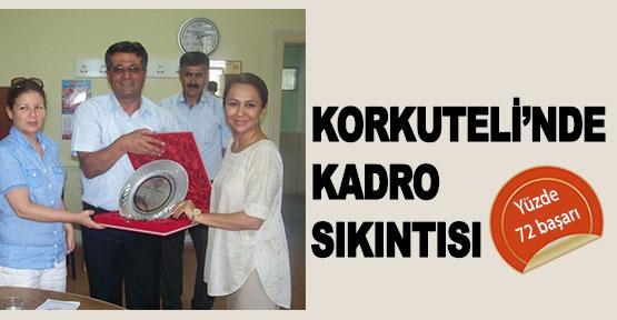 KORKUTELİ'NDE KADRO SIKINTISI