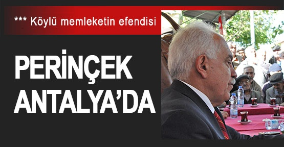 Perinçek Antalya'da